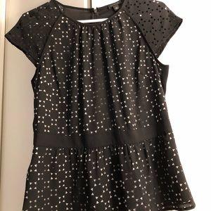 NWOT Ann Taylor laser cut blouse